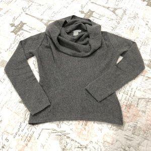 Hayden | Cashmere cowl neck sweater heather gray